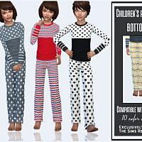 Kids Pajama Pants By Sims House