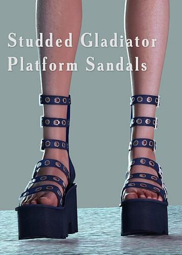 Studded Gladiator Platform Sandals