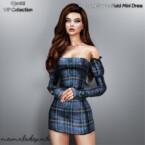 Long Sleeve Plaid Mini Dress By Mermaladesimtr