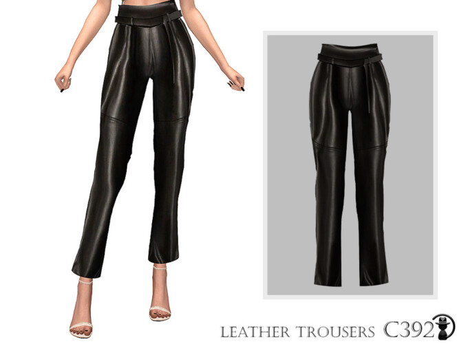Leather Trousers C392 By Turksimmer