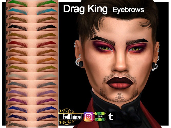 Drag King Eyebrows By Evilquinzel