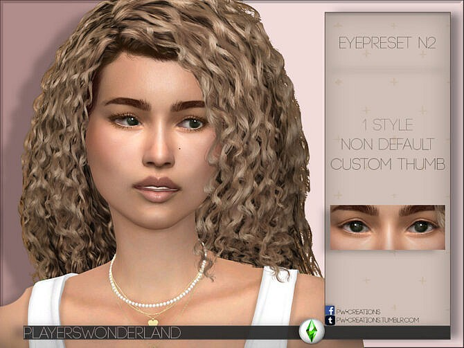 Sims 4 Eye Preset N2 by PlayersWonderland at TSR