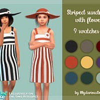 Striped Sundress With Flower By Mysteriousoo