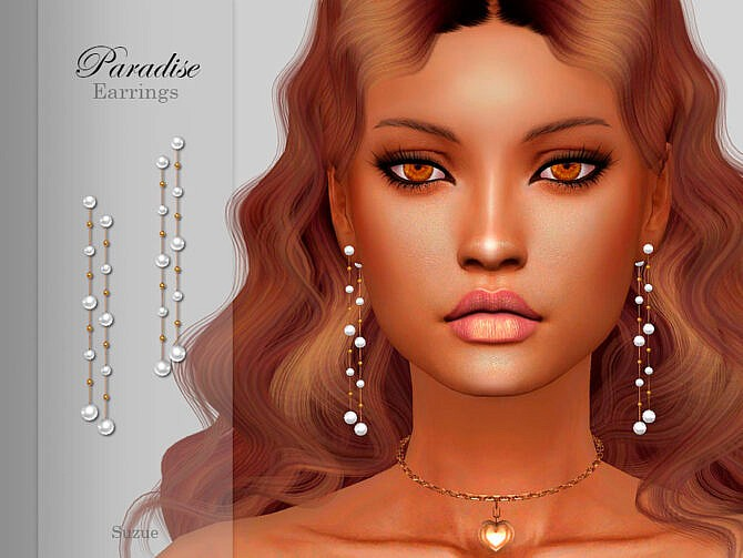 Sims 4 Paradise Earrings by Suzue at TSR