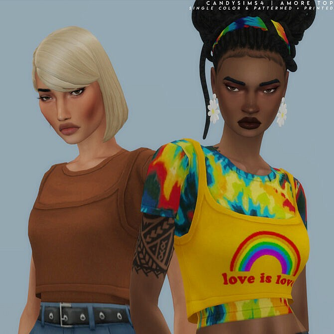 Sims 4 Cute double top at Candy Sims 4