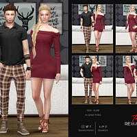 Couple In Game Pose Set 01 By Remaron