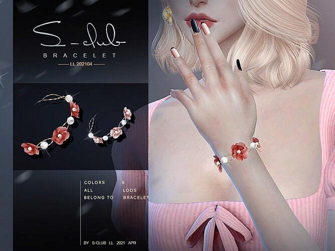 Flower Bracelet 2021012 By S-club Ll