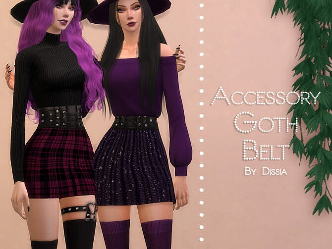 Sims 4 Goth Belt by Dissia at TSR