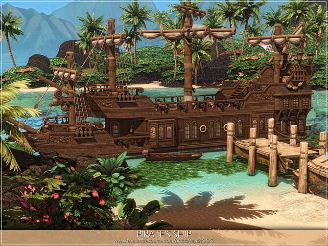 Sims 4 Pirates Ship by MychQQQ at TSR