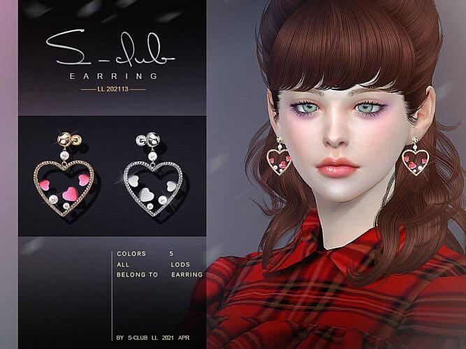 Peach Heart Earrings 202113 By S-club Ll