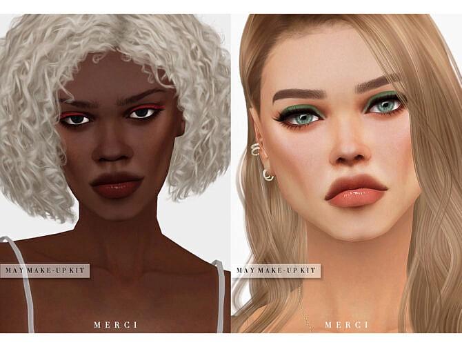 Sims 4 May Eyeliner by Merci at TSR