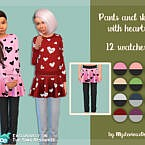 Pants And Skirt With Hearts By Mysteriousoo