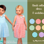 Check Cotton Dress By Mysteriousoo