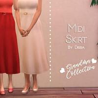 Midi Skirt Grandma Collection By Dissia