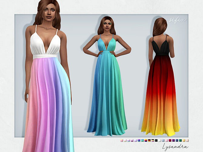 Sims 4 Lysandra Formal Dress by Sifix at TSR