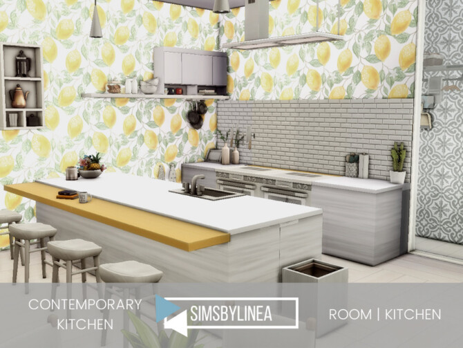 Sims 4 Contemporary Kitchen by SIMSBYLINEA at TSR