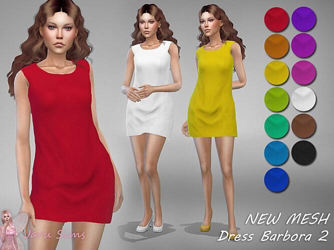 Dress Barbora 2 By Jaru Sims