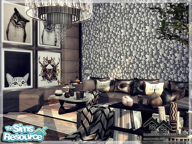 Sims 4 VAIDONA LIVING ROOM by marychabb at TSR