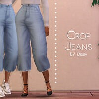 Crop Jeans By Dissia