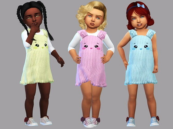 Sims 4 Toddler dress Clarissa by LYLLYAN at TSR