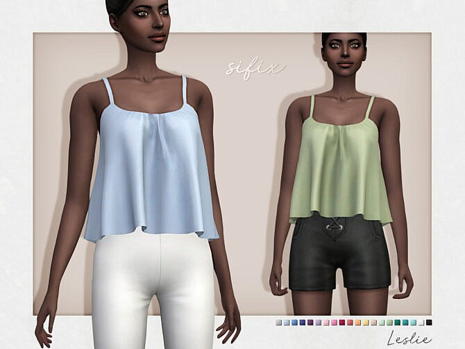 Sims 4 Leslie Top by Sifix at TSR