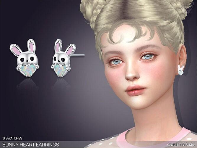 Bunny Heart Earrings By Feyona