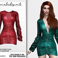 Ruched Velvet Dress Mc201 By Mermaladesimtr