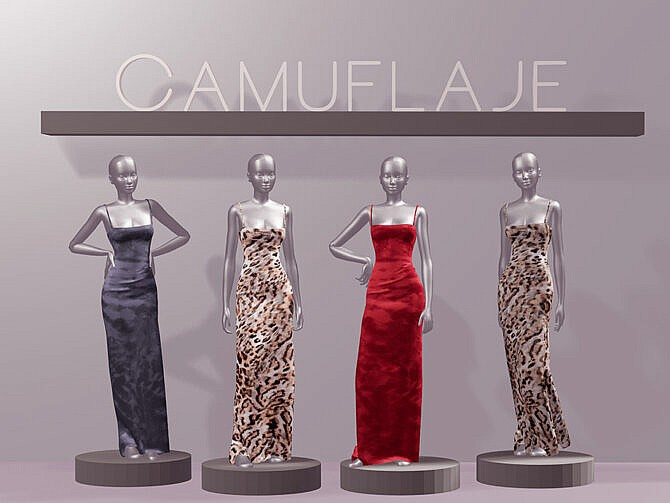 Sims 4 Not Your Bae Dress I by Camuflaje at TSR