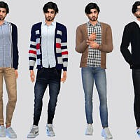 Dunne Casual Cardigan By Mclaynesims