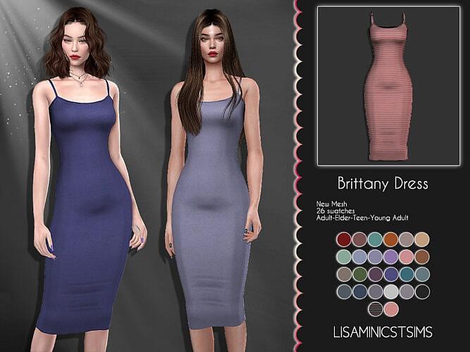 Lmcs Brittany Dress By Lisaminicatsims