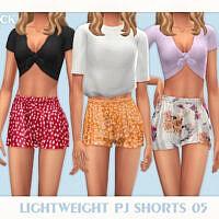 Lightweight Pj Shorts 05 By Black Lily