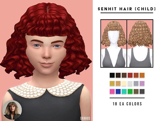 Sims 4 Senhit Hair (Child) by OranosTR at TSR