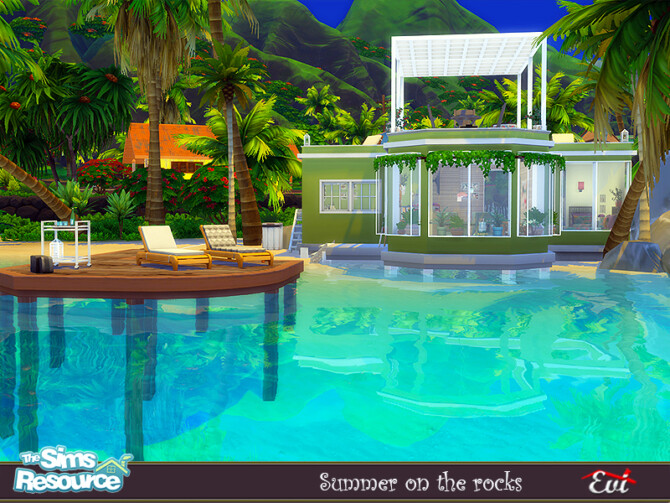 Sims 4 Summer on the rocks by evi at TSR