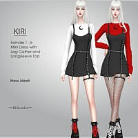 Kiri Goth Mini Dress By Helsoseira