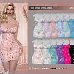 Dsf Dress Spring Amore By Dansimsfantasy