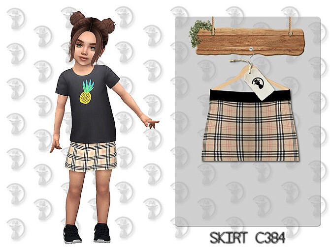 Sims 4 Skirt C384 by turksimmer at TSR