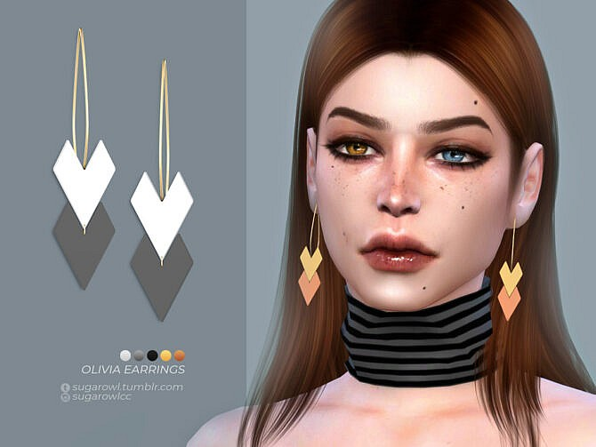 Sims 4 Olivia earrings by sugar owl at TSR