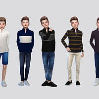 George High Collar Sweater Boys By Mclaynesims