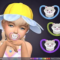 Raccoon Pacifier (brow Ring Category) By Feyona
