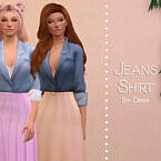 Jeans Shirt By Dissia