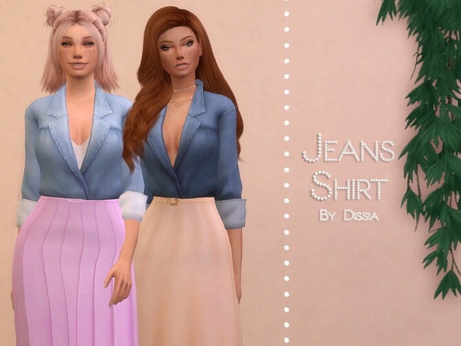 Sims 4 Jeans Shirt by Dissia at TSR