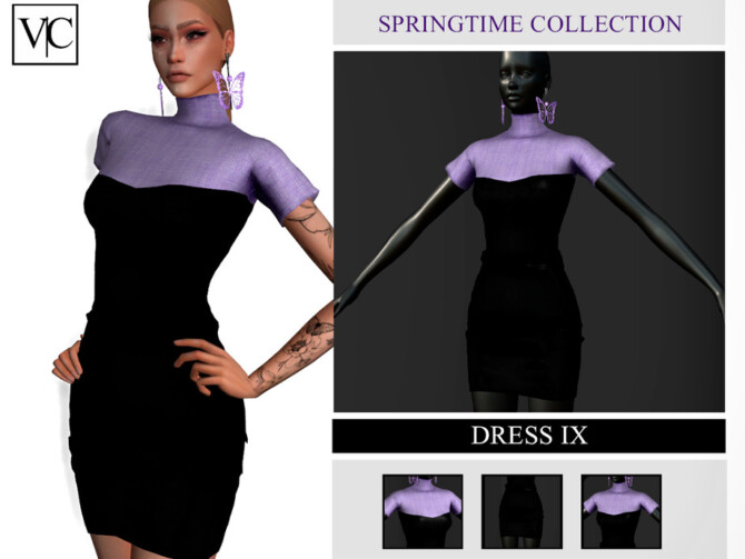Sims 4 SpringTime Collection Dress IX by Viy Sims at TSR