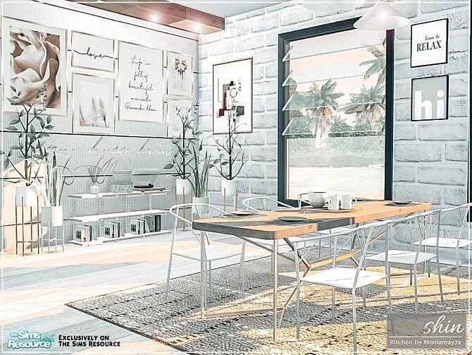 Sims 4 Shin Kitchen by Moniamay72 at TSR