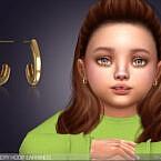 Little Emery Hoop Earrings For Toddlers By Feyona