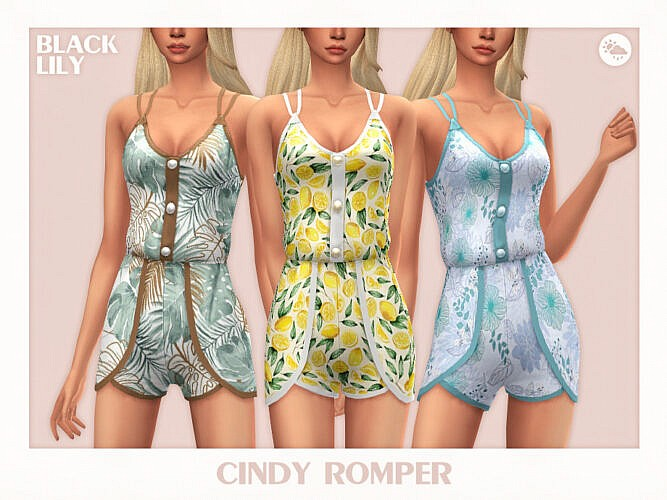 Cindy Romper By Black Lily