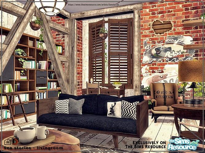 Sea Stories Livingroom By Danuta720