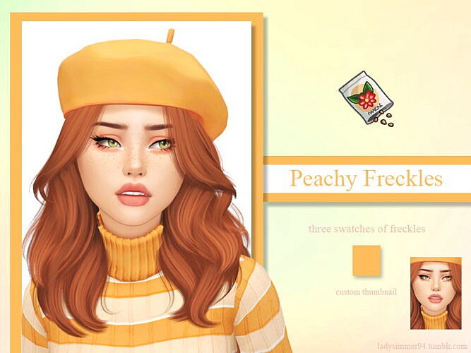 Peachy Freckles By Ladysimmer94
