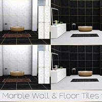 Tx Marble Wall & Floor Tiles Set By Theeaax