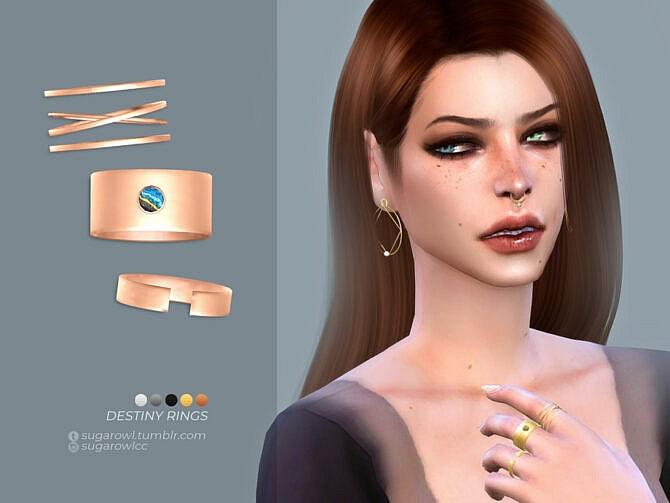 Sims 4 Destiny rings by sugar owl at TSR