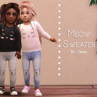 Meow Sweater Toddler By Dissia